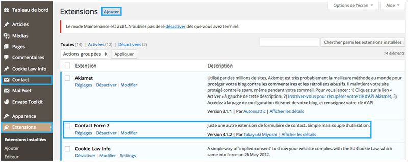 Comment installer un formulaire de contact sur WordPress-5