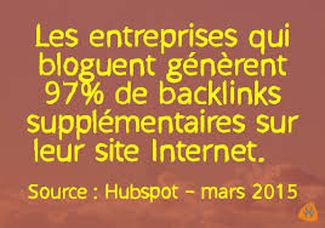 les blogs des entreprises generent 97% de backlinks supplementaires
